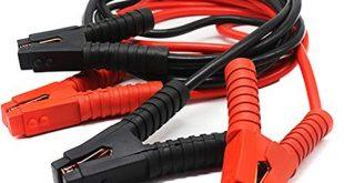 HENGMEI Starthilfekabel Überbrückungskabel 12V/24V Starterkabel mit Überspannungsschutz für Auto, LKW, Motorrad (2x4m)